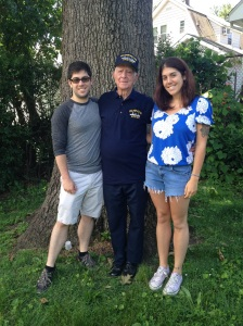My dad with James and Adella